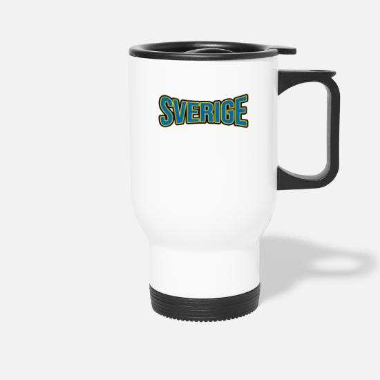 Stockholm Mugs & Drinkware - Sverige Fan Articles - Sports Fans T-shirt - Travel Mug white