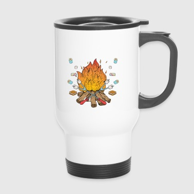 Marshmallow Chemise de cadeau Campfire Happy Camper Marshmallow - Mug thermos