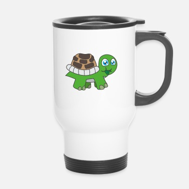 Grignoter plantes drôles animaux tortue enfants motifs - Mug thermos