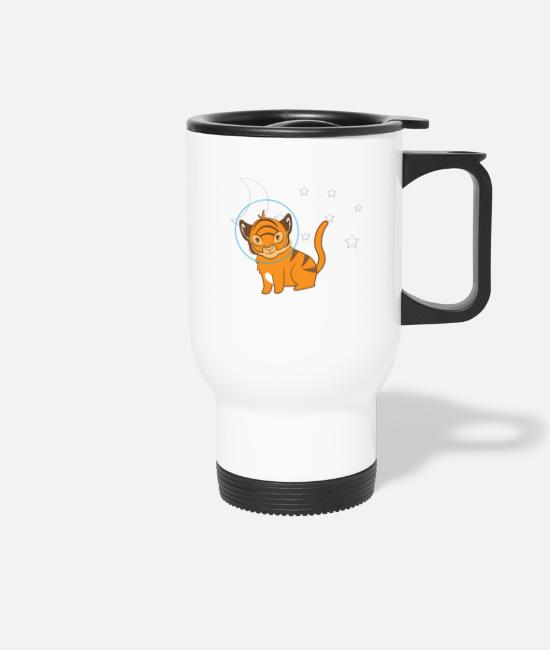 Big Cats Mugs & Drinkware - Tiger - Tiger Fan - Tiger Lover - Be Yourself - Travel Mug white