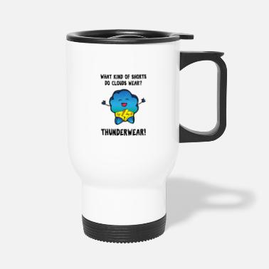 Retro Underwear Underwear pun meteorology design shirt - Travel Mug