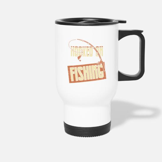 Birthday Mugs & Drinkware - Fishing hobby fish fishing father's day - Travel Mug white