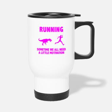 Fun Run Run Triathlon Motivation Chemise & Cadeau - Mug isotherme