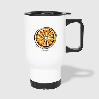 Orange Fruit Fruit Fruit - Travel Mug