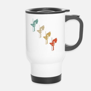 Pole Dance Retro Vintage Style Pole Dance Pole Dancing Dancing - Travel Mug