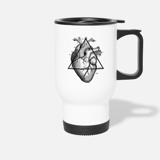 My Heart Mugs & Drinkware - My Heart, my Heart! - Travel Mug white