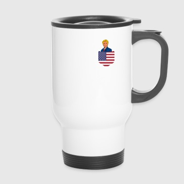 Democratic Clinton in a Stars and Stripes Pocket - Travel Mug