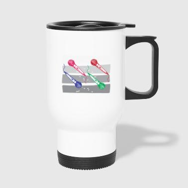 Microphone coloré - Mug thermos
