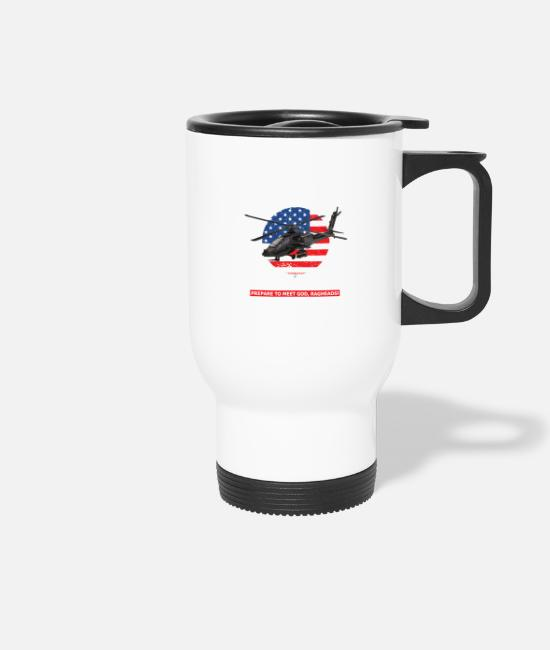 Special Forces Mugs & Drinkware - AH 64D Apache Helicopter - Travel Mug white