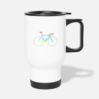 Glass Underwear Bicycle anatomy for bike and cycling lovers - Travel Mug
