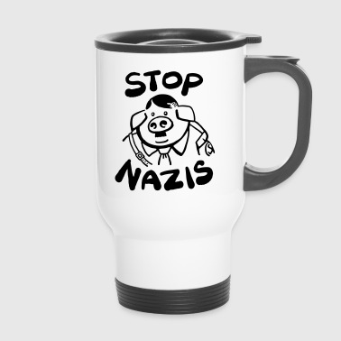 Stop Nazis - Travel Mug