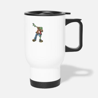 Funny Halloween Zombie Dabbing For Candy. Trick or Treat Candy Lover Gift - Travel Mug