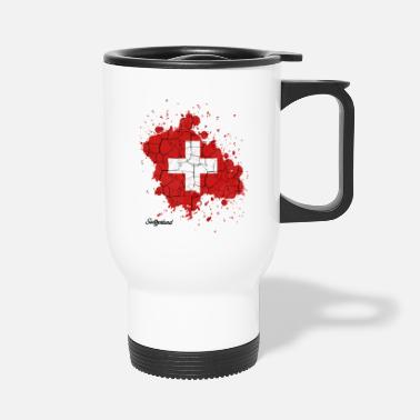 Confederate Swiss Confederation outline gift - Travel Mug
