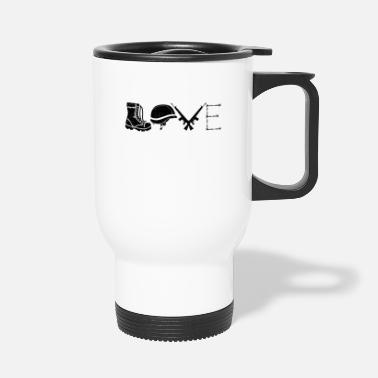 Army Love | Soldier military assault rifle gift - Travel Mug
