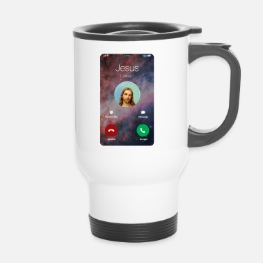 Jesus Is Calling God Gets Religion Bible Gift - Travel Mug