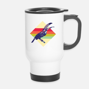 Aile Toucans rétro colorés - Mug thermos