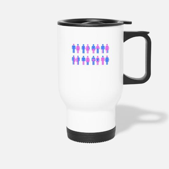 Bisexual Mugs & Drinkware - More Than Two Genders - Travel Mug white