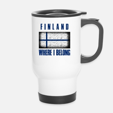 Patriot Suomi Where I Belong | Finland Helsinki geschenk - Thermo mok