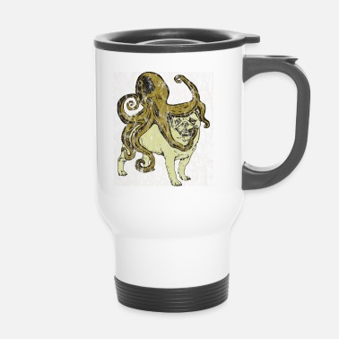Addestramento Pug incontra Octopus Used Look - Tazza termica