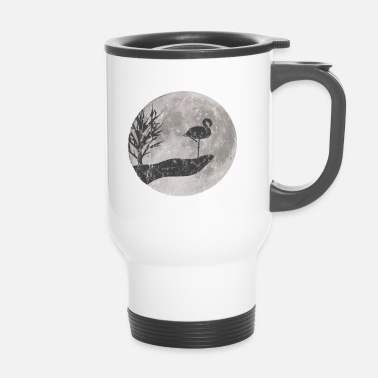 Sud Dessin de Flamingo look usé - Mug thermos