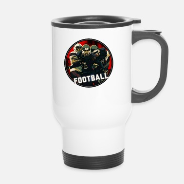 Graphic Art Cool Football Season Red Art Graphic Jeugdhelm - Thermo mok