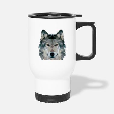 Clip Art Wolf Face Low Poly Design, Wolf Face Clip art - Tazza termica