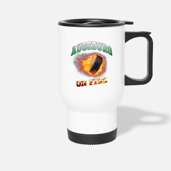 Stadium Mugs & Drinkware - Augsburg On Fire - Ice Hockey Fan Articles Gift - Travel Mug white
