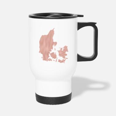 Shilouette Denmark maps Shilouette in pink map - Travel Mug