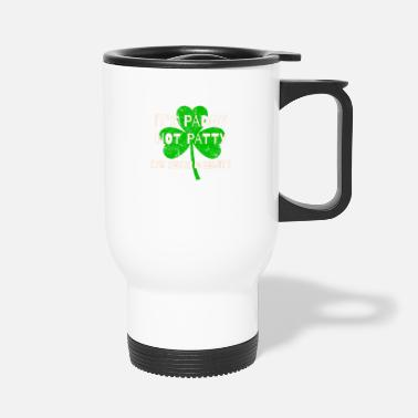 Eejit Feckin Eejit Distressed for St Paddy's Day - Travel Mug