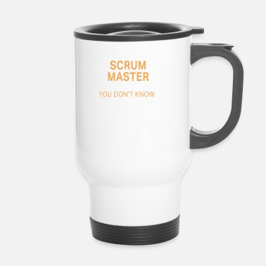 Lachen Grappige Scrum Master Solve Problems-ontwerp - Thermo mok