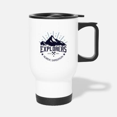 Since explorers since 1980 nordic expedition mountains - Mug isotherme