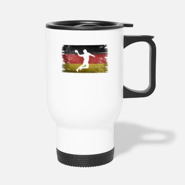 Tain Handball player Germany retro flag - Travel Mug
