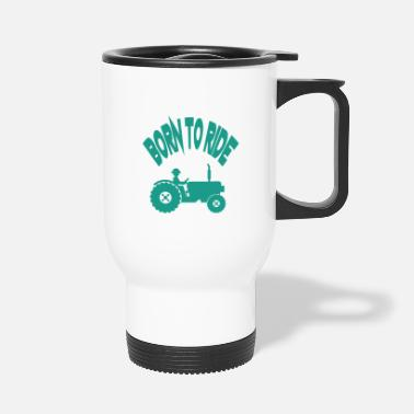 Bœuf BORN TO RIDE, tracteurs - Mug thermos
