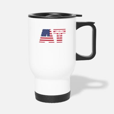 AT Athletic Trainer Fitness Gift America Gym - Travel Mug