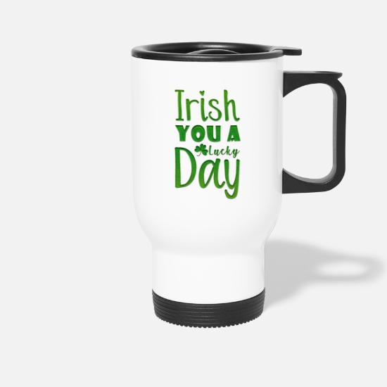 Proverbi Tazze & Accessori - Irish You A Lucky Day - Tazza termica bianco