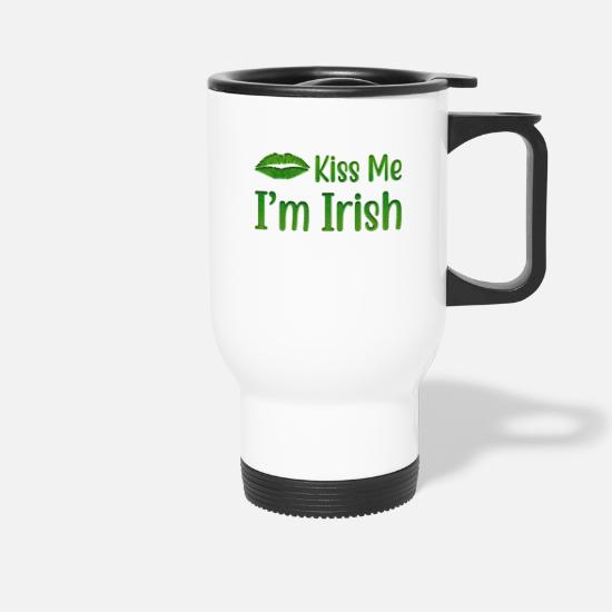 Proverbi Tazze & Accessori - Kiss Me I Am Irish - Tazza termica bianco