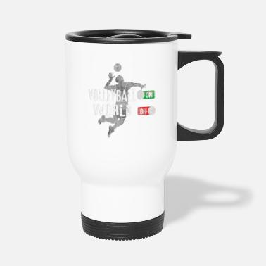Volleyball On - Head Off Buttons UTILISÉ - Mug isotherme
