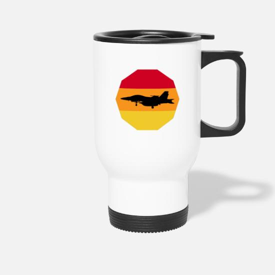 Gift Idea Mugs & Drinkware - Fighter jet shirt gift - Travel Mug white