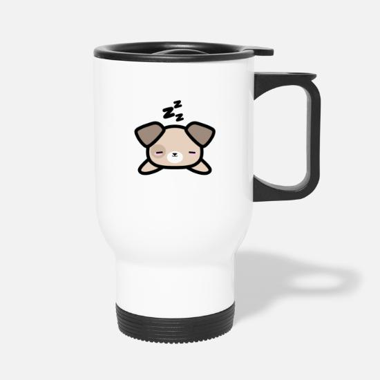 Cadeau De Dessin De Style Mignon Kawaii Design Sleeping Dog Mug Thermos Blanc
