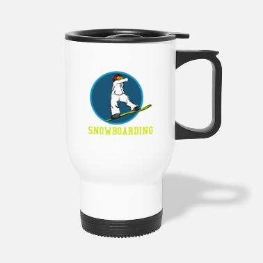 Boarders Nice Snowboard ride drawing gift gift ideas - Travel Mug