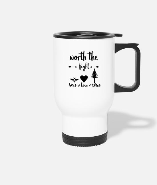 Nature Mugs & Drinkware - Conservation Bees Trees Love Shirt Gift Idea - Travel Mug white