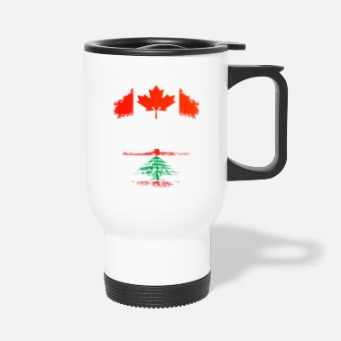 Country Canadian Grown With Lebanese Roots - Travel Mug
