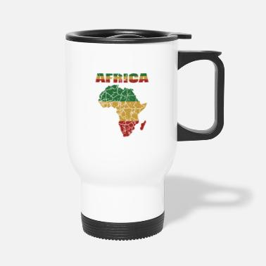 Cape Carte Afro Culture Africaine Racines - Mug isotherme