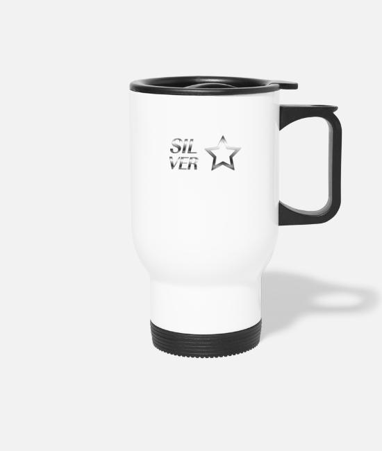 New Mugs & Drinkware - Silver Star - Travel Mug white