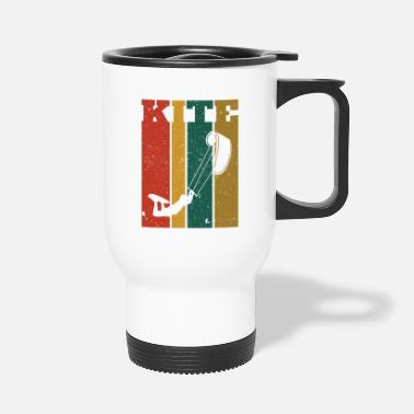 Kiteboard Retro Kiteboard Kiteboarder Kiteboarding - Travel Mug