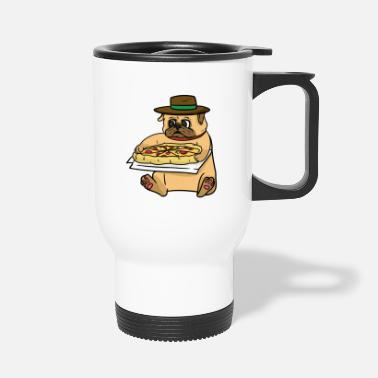 Italian Italian pug and Italian pizza - Travel Mug
