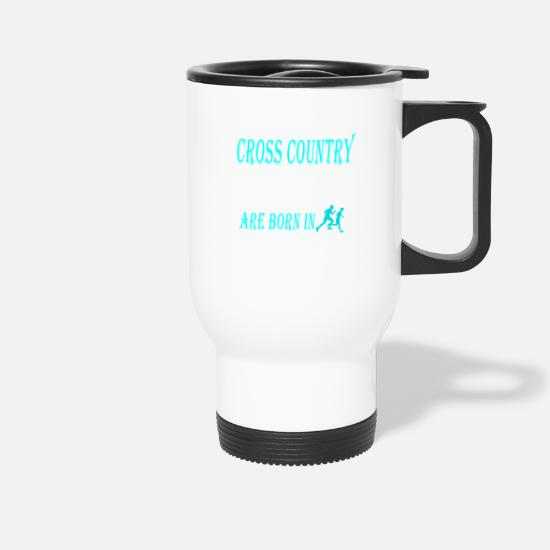 Cross Country Mugs et récipients - Cross Country Legends naissent en novembre - Mug isotherme blanc