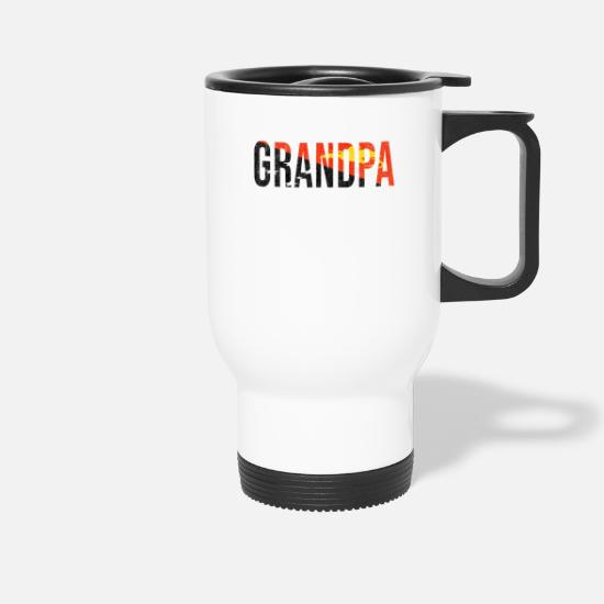 Father's Day Mugs & Drinkware - Papua New Guinea Grandpa Legend Fathers Day - Travel Mug white
