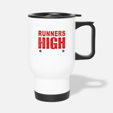 Marathon Runners High: Laufen Running Marathon Run Geschenk - Thermobecher