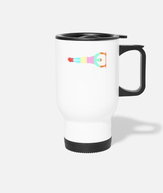 Chin Up Mugs & Drinkware - Calisthenics design - Travel Mug white